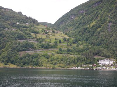 Eagle's Nest is the road down to the fjord from the north; it is one of only two roads to Geiranger and is closed in the winter