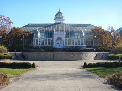 Originally built in 1895, the Franklin Park Conservatory is on the National Register of Historic Places; it is surprisingly small and not nearly as impressive as others I've visited