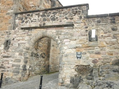 17th century Foog's Gate leads to the upper ward of Edinburgh Castle; city located on the Firth of Forth