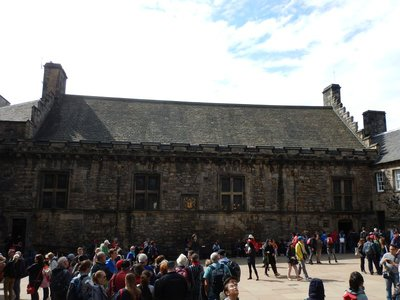 The Great Hall (early 16th century); city population 465,000 while Glasgow has 615,000