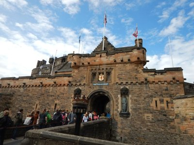 Edinburgh Castle is Scotland's most visited paid tourist attraction; way too crowded!