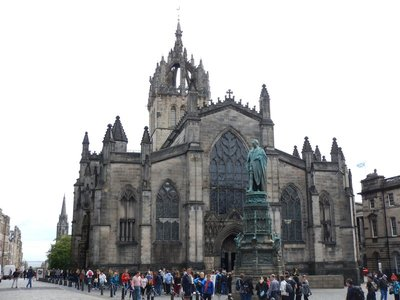 15th century St. Giles Cathedral is the flagship of the Church of Scotland and Mother Church of Presbyterianism; John Knox preached here