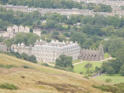 Holyrood Palace (1628); Queen Elizabeth stays here one week a year in early summer