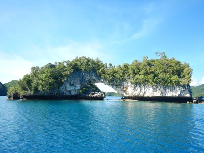 Palau's Natural Arch looked pretty precarious to me; we saw lots of smaller arches and other creative contours that the sea has molded