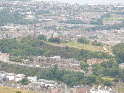 Calton Hill features an unfinished replica of the Parthenon; sister city with San Diego