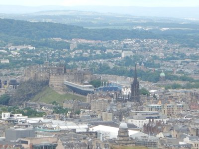 View of Castle Hill from 823ft Arthur's Seat, the highest point in the city