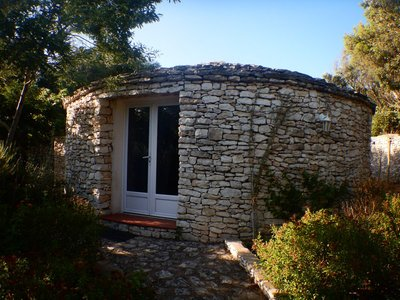 I had a circular, stone hut/cabin for my first 2 nights near Bonifacio; I added the days at the last minute and this was all that was left