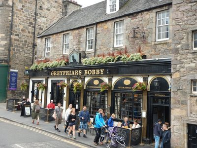 Traditional Scottish pub; city home to the largest international annual arts festival, the Fringe, held in August