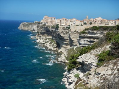 Bonifacio is the oldest town in Corsica; it is only 12 kilometers from Sardinia with the ferry trip taking an hour between the two islands
