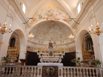Bonifacio's cathedral was the heart of the town's religious and cultural life for centuries; the Baroque high altar dates from 1624