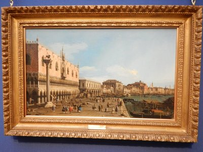 My favorite work in the Scottish National Gallery, Venice in 1745 by Canaletto (admission free!)