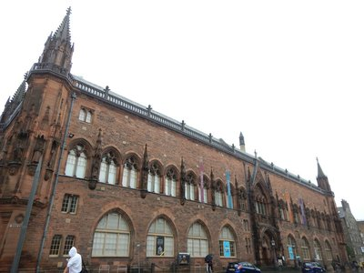 I liked the building of the Scottish National Portrait Gallery better than the contents