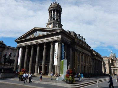 Glasgow Gallery of Modern Art was once a private mansion belonging to a tobacco tycoon in the 1700s