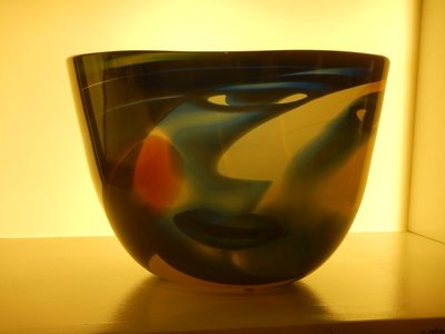 The Kelvingrove Museum had tons of interesting exhibits; 1986 face on glass bowl
