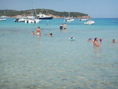 I snorkeled out to the entrance to Rondinara Bay but never saw much beyond clear water and sea grass