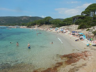 Often cited as the prettiest beach on Corsica, Plage de Palombaggia was backed by the pines and lacking any development