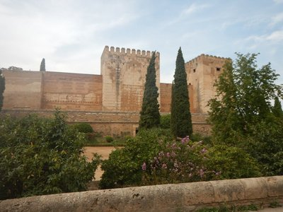 The Alcazaba, on the west end of the Alhambra, was the original citadel with watch towers and has the best views of Granada