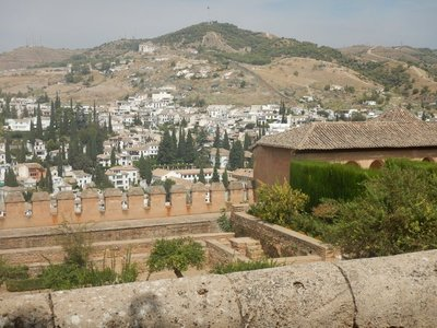 View from the Alhambra of the Albaicin, the historic Moorish district of Granada; the Albaicin is also part of the UNESCO World Heritage Site