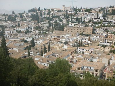View of old Granada; part of Paulo Coelho's novel The Alchemist is set at the Alhambra