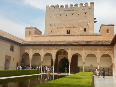 Patio de los Arrayanes; center of palace built in the mid 14th century for an emir