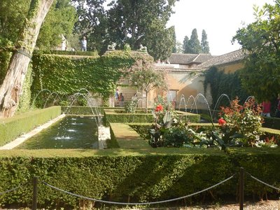 The Alhambra covers 35 acres or about 1.5 million square feet; Moorish poets described it as a pearl set among emeralds