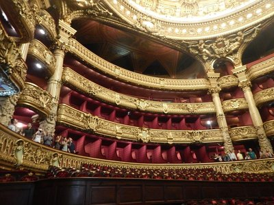 The Opera was the setting for Leroux's 1910 novel, The Phantom of the Opera; I think it's the most beautiful building in Paris