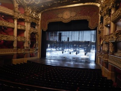 The stage area is enormous; you could easily fit the Arc de Triomphe inside; the Opera Garnier is the number 3 thing to do in Paris according to TripAdvisor