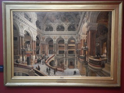 Navlet, The Grand Staircase at the Opera, 1889; this painting at the Orsay shows that the Opera building hasn't changed in 130 years