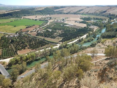 The Guadalete River provides a reliable source of water to the fertile lands surrounding Arcos