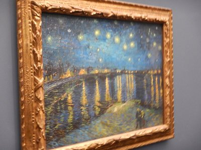 Van Gogh, Starry Night over the Rhone, 1888