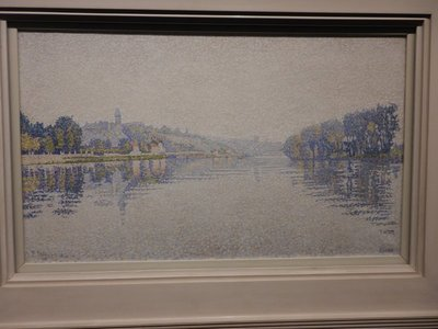 Signac, Riverbanks, The Seine at Herblay, 1889