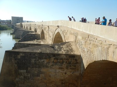 16 arched Roman Bridge spans the Rio Guadalquivir and formed part of the Via Augusta which ran from Girona in Catalonia to Cadiz