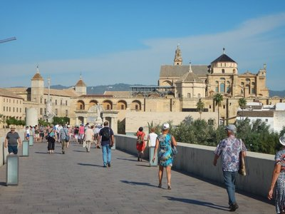 Roman Bridge makes for a nice, traffic-free stroll leading up to the Mezquita