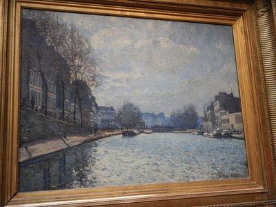 Sisley, View of Saint Martin Canal, 1870
