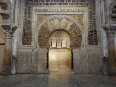 The Mezquita's greatest treasure is the 10th century mihrab (prayer niche) with gold mosaic cubes imported from Byzantium