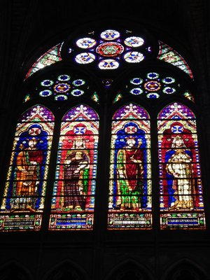 According to the Metropolitan Museum of Art, the earliest surviving stained-glass windows that can be exactly dated are those made for the Basilica in 1144
