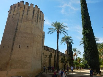 14th century Alcazar de los Reyes Cristianos is where Ferdinand and Isabella first met Christopher Columbus in 1486