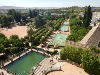 The Alcazar's terraced gardens and fountains; Cordoba is only an hour by train from Seville