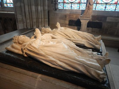Tomb of Henry II and Catherine de Medici, often called the most powerful woman from the 16th century; Henry largely ignored Catherine and spent most of his time and money on his mistress
