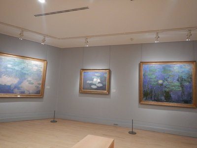 The collection of water lily paintings by Monet here are not his best; the Marmottan was given the Monet's by his last descendant in 1966
