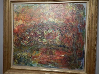 Monet, Japanese Bridge, 1924; I love Monet but this looks like it was done finger painting