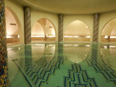 Beautiful hammam is not used but is shown only as part of tour