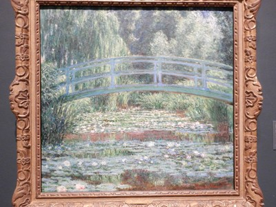 Japanese Footbridge and Water Lily Pool, Claude Monet, 1899; Philadelphia Museum of Art is one of the largest in the world based on gallery space; in 2018, the victory parade for the Philadelphia Eagles' Super Bowl win finished on the museum steps
