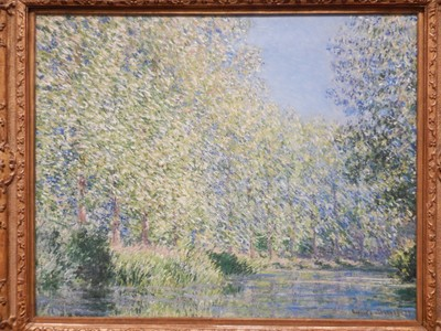 Bend in the Epte River, Claude Monet, 1888; he created a studio boat from which he painted many of his water-scene works; Abstract Expressionists like Rothko, Pollock, and de Kooning were partly responsible for the huge popularization of Monet's work