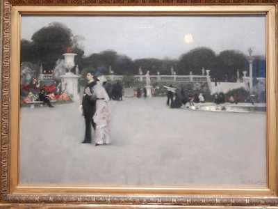 In the Luxembourg Gardens, John Singer Sargent, 1879; even 150 years after this painting it's still easy to identify exactly where in the Gardens this couple is; the artist was the leading portrait painter of his generation