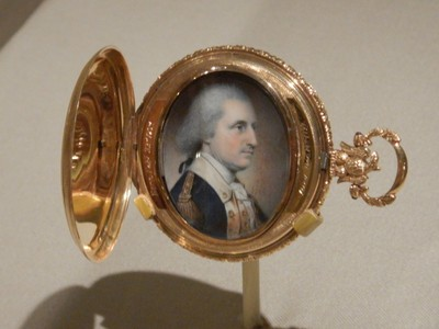George Washington, James Peale, 1788; the artist made this miniature portrait while Washington was posing for a painting by James's older brother and teacher, Charles Willson Peale