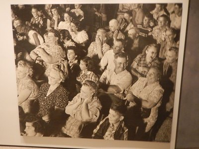 This Indiana crowd was enjoying a local variety show; the homogeneity of the audience struck me in these photos from the 1950s
