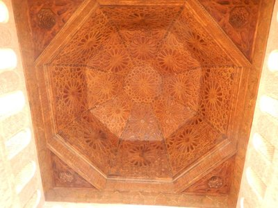Ben-Youssef Mosque; I think I was most impressed by the ceilings in Moroccan landmarks; always detailed craftsmanship and beautiful