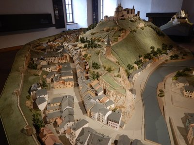 Vianden Castle is the most impressive castle in Luxembourg; it is also very popular with tourists so parking can be a challenge