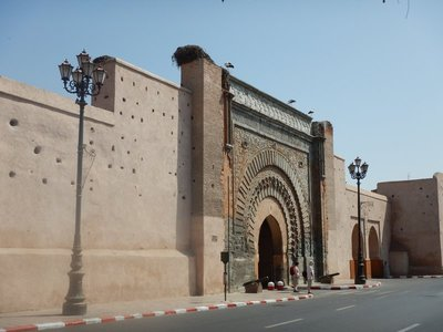 12th century Bab Agnaou gate is one of 20 entrances to the old town; the ramparts of the city have a length of almost 20 miles